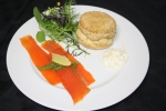 Smoked Trout with Dill Scone and Horseradish Cream